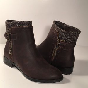 Laura Scott Brown Ankle Boots Size 8 Brand New-E18